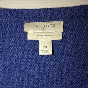 Talbots 100% Cashmere V-neck Sweater size M